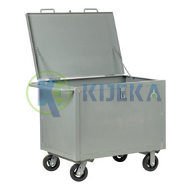 Steel Box Cart- With Hinged Lid